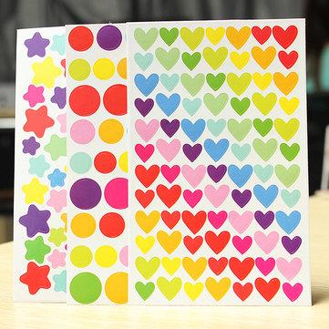 6 fogli album adesivo colorato arcobaleno diario pianificatore di diario fotografico