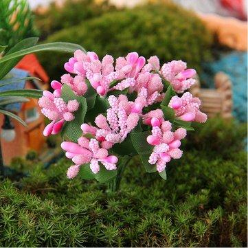 Micro paesaggio decorazioni di arte del panno del fiore del giardino decorazione fai da te