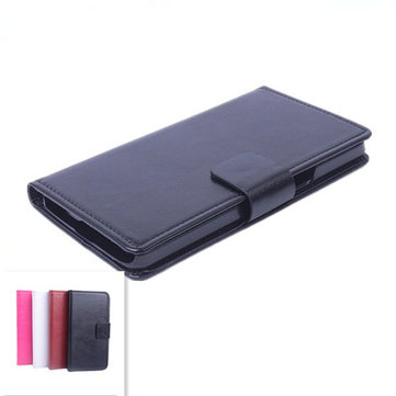 Flip-open Protective Leather Case For Alcatel One Touch Idol X 6040