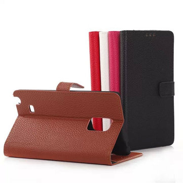 Flip Litchi Grain PU Leather Case For Samsung Note Edge N915F N9150