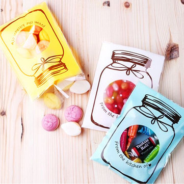 10pcs Candy Bags Cookie Biscuit Bags Wrapping Party Bags Bottle Cellophane Bags 10*7cm