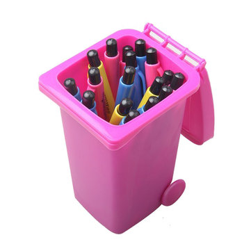Mini Wheelie Bin Desk Tidy Pen Holder