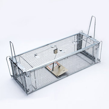 Dual Doors Humane High Sensitivity Mouse Rat Trap Catcher Cage Pest Control