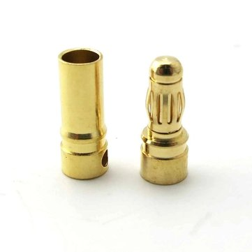 4/5.5/6mm Gold Bullet Connector Banana Plug For ESC Battery Motor