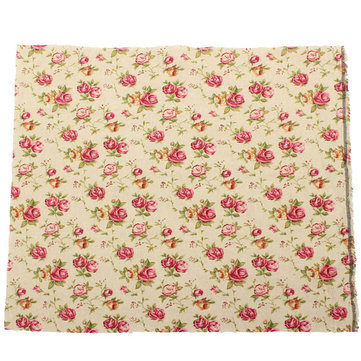 Cotton Rose Printed Fabric Handicraft DIY Sewing Cloth