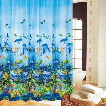 180 * 180cm bain marin polyester monde imperméable rideau de douche