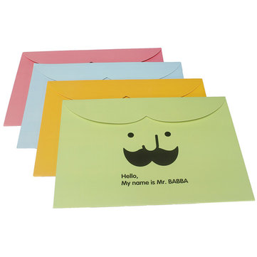 Moustache Pattern A4 Paper Envelope Document Files Bags Paper Folder