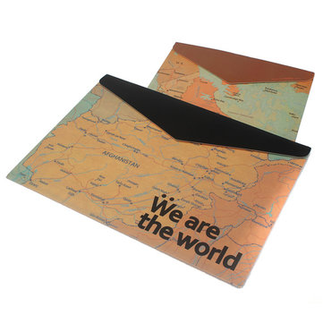 Retro Map Pattern A4 Envelope Portfolio Document Bags Folders