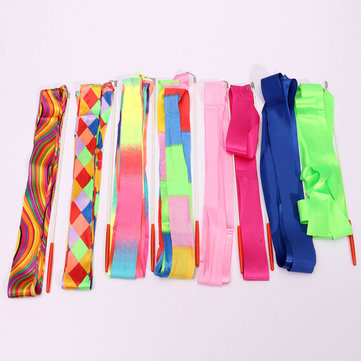 4M Art Gymnastic Ballet Streamer Twirling Rod Stick Wand Dance Ribbon Rhyth