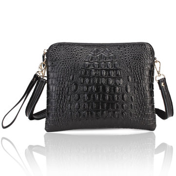 Women's Crocodile Pattern Clutch Bags PU Leather Shoulder Messenger Handbag