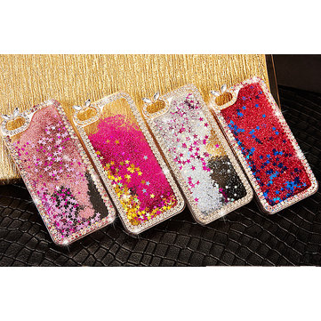 Luxury Bling Glitter Diamond Quicksand Hard Cover Case For iPhone 6 Plus
