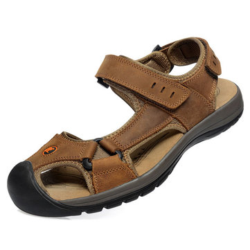 Leisure Casual Mens Leather Beach Sandal Slipper Shoes
