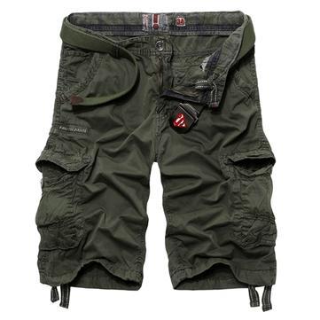 Mens Casual Cotton Fashion Multi Pockets Cargo ShorT-pants