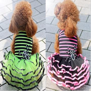 Summer Puppy Dog Dress Skirt Puppy Wedding Dress Bubble Pet Dog Skirt