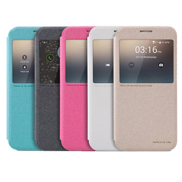 NILLKIN Sparkle View Window Leather Case Cover For Samsung Galaxy S6 G920F