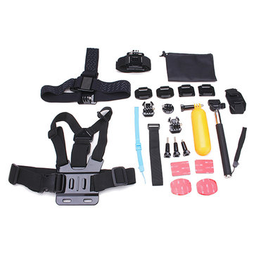 23 In 1 Kit Accessories For Gopro Hero 3 4 3 Plus SJ4000 Sportscamera