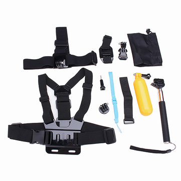 12 In 1 Chest Belt Head Strap Head Strap J-Hook BucklE-mount Kits For Gopro Hero