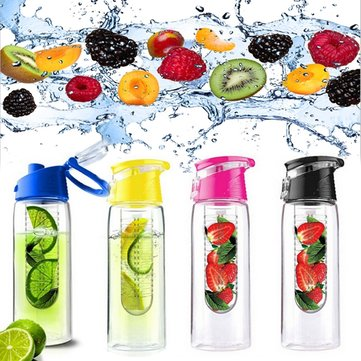 800ML Sports Bicycle Water Cup Health Fruit Infusing Infuser Lemon