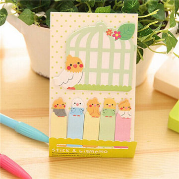 Lovely Parrot Cage Memo Sticker Bookmark Index Sticky Notes