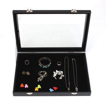 Large Jewelry Tray Storage Box Necklaces Earrings Bracelets Showcase
