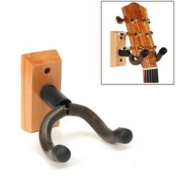 Wooden Base Guitar Hangers Wall Mount Hooks Stand Holder Musical Instrument