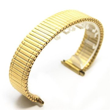 12MM 14MM 16MM 18MM Stainless Steel Golden Flexible Watch Band
