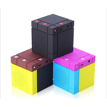 Mini Cube Portable Bass Little Cannon Car Outdoor Bluetooth Speaker