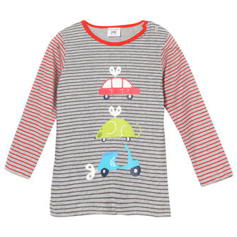 2015 New Little Maven Summer Baby Girl Children Car Stripe Cotton Long Sleeve T-shirt