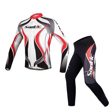 SanticErkeklerBisikletebinmeBisikletiBisiklet Uzun Kollu Jersey Spor Binme Suit Bisiklet Elbiseleri