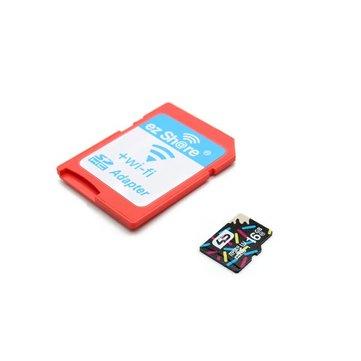 EZShare WiFi Wireless Micro SD Adapter With LD 16GB Class 10 MicrosSD Memory Card