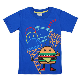 Little Maven Lovely Hamburger Baby Children Boy Cotton Short Sleeve T-shirt