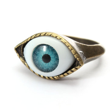 band punk for men ring stainless rings eye steel at vintage ruby evil p