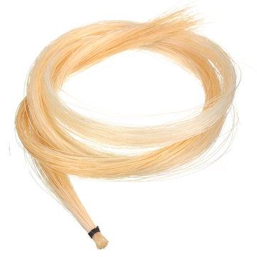 1 Hank 32 Inch Mongolian Violin/Viola Bow Hair Horsehair White