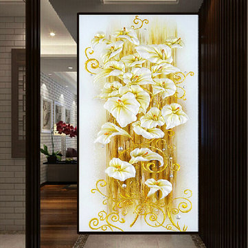 130x70cm 5D Beautiful Lily DIY Diamond Painting Rhinestone Cross-stitch Kits