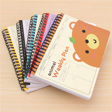 Cartoon Travel Diary Schedule Notebook Creative Gift 5 Styles Diary