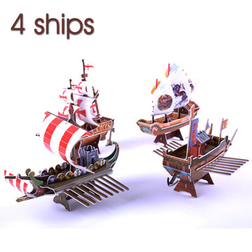 3D Jigsaw Puzzle Ship Series 4 Ships DIY Models B368-16