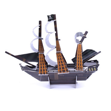 3D Paper Jigsaw Puzzle The Black Pearl Mini DIY Model Building B668-20