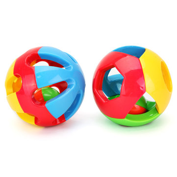 2Pcs Baby Kids Infants Music Rattles Ball Early Educational Crawling Toys