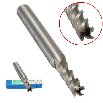 HSS 4 Flute End Milling Cutter Drill Bit 3/16x1/4 Inch Straight Shank Engraving Tool