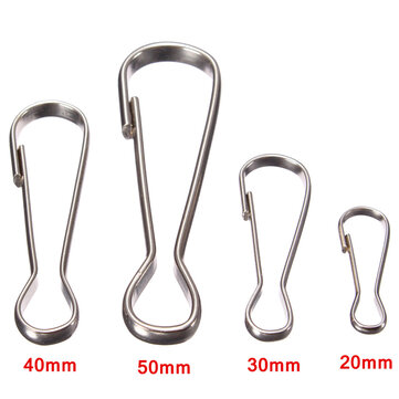 Steel Flag Pole Clip Snaps Hook Flag Pole Attachment 20mm/30mm/40mm/50mm