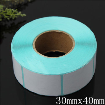 800PCS 30x40mm Printing Label Barcode Thermal Adhesive Paper Sticker New