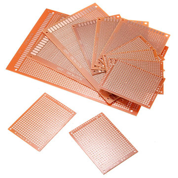 12pcs PCB Prototyping Printed Circuit Board Stripboard Prototype Breadboard With 4 Sizes