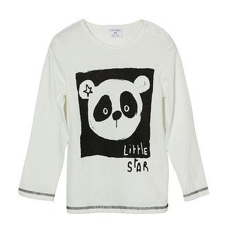 2015 New Little Maven Lovely Panda Baby Children Boy Cotton Long Sleeve Top