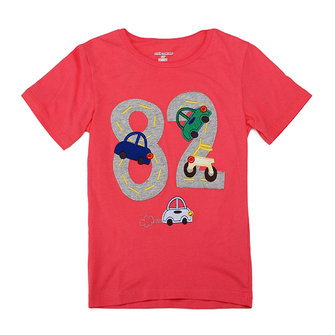 2015 New Little Maven Lovely Number Baby Children Boy Cotton Short Sleeve T-shirt Top