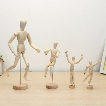 Wooden Jointed Doll Man Figures Model Painting Sketch Cartoon
