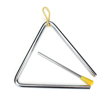 Baby Kids Children 6 Inch Triangle Rhythm Band Toy Musical Instrument Educational Tool