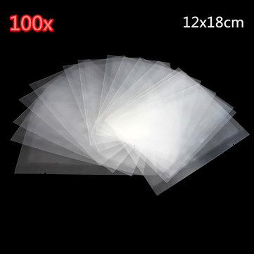 100pcs Clear Transparent Vacuum Package Ziplock Heat Seal Food Packing Bag 12x18cm