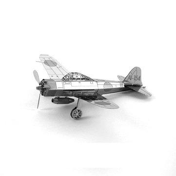 Piececool bricolaje modelo montado acero inoxidable japón plano z 3d rompecabezas