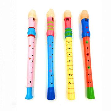 휴대용 아기 어린이 키드 긴 나무 플루트 휘파람 악기 개발 장난감