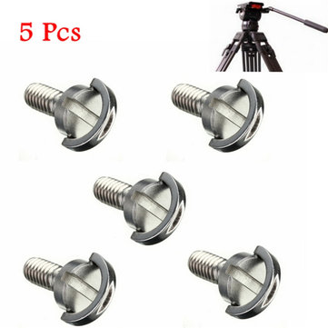 5 Pcs 1/4 Inch Long Quick Release Plate Stainless Steel D-Ring Screw For Tripod Camera